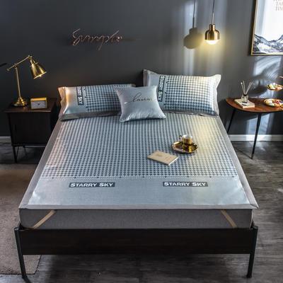 2020新款轻奢提花床席 1.5m(5英尺)床 千鸟格-蓝色