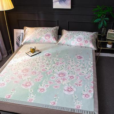 2020新款轻奢提花床席 1.5m(5英尺)床 诗语-粉绿