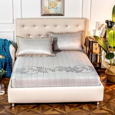 2020新款床包式提花冰丝席 1.5m(5英尺)床 简尚