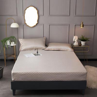 2020新款床包式提花冰丝席 1.5m(5英尺)床 希熙-米驼