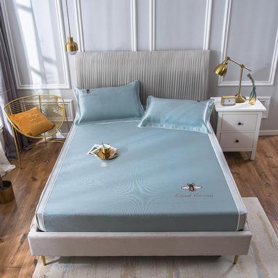 2020新款冰丝床笠席 1.5m(5英尺)床 甜蜜蜜-碧绿