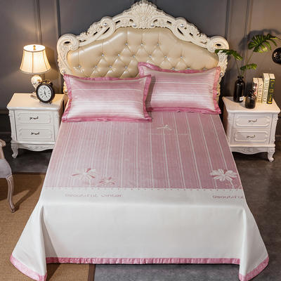 2020新款轻奢床单款冰丝席 1.8m(6英尺)床 朵儿-粉色