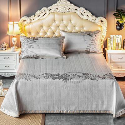 2020新款轻奢床单款冰丝席 1.8m(6英尺)床 简尚-银咖