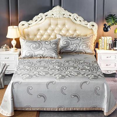 2020新款轻奢床单款冰丝席 1.8m(6英尺)床 欧斯曼-银咖