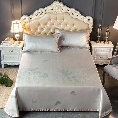 2020新款轻奢床单款冰丝席 1.8m(6英尺)床 如茵-灰咖