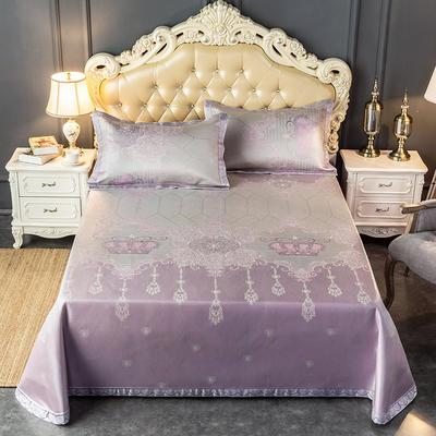 2020新款轻奢床单款冰丝席 1.8m(6英尺)床 瑞卡-粉紫