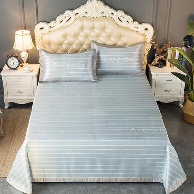 2020新款轻奢床单款冰丝席 1.8m(6英尺)床 威尔斯-中灰