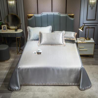 2020新款轻奢床单款冰丝席 1.8m(6英尺)床 唯美-灰咖