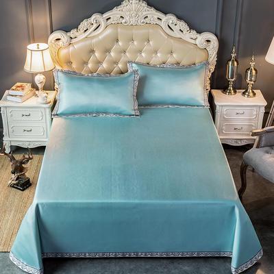 2020新款轻奢床单款冰丝席 1.8m(6英尺)床 唯美-绿