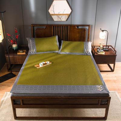 2020新款绣花藤席 1.5m(5英尺)床 浪漫之旅-牛油果绿