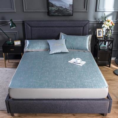 2020新款网布床笠冰丝凉席 1.5m(5英尺)床 冰洁-翡翠绿