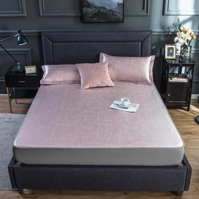 2020新款网布床笠冰丝凉席 1.5m(5英尺)床 冰洁-嫩粉