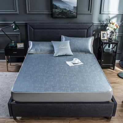 2020新款网布床笠冰丝凉席 1.5m(5英尺)床 冰洁-雾蓝