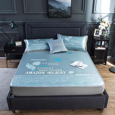 2020新款网布床笠冰丝凉席 1.5m(5英尺)床 光年-灰绿