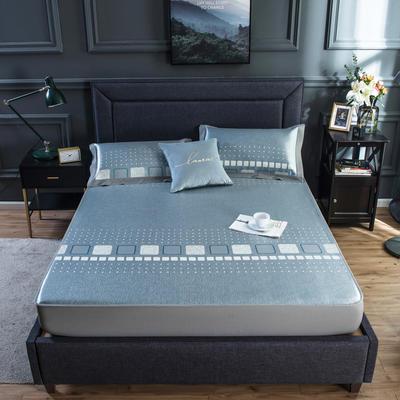 2020新款网布床笠冰丝凉席 1.5m(5英尺)床 完美空间-蓝色