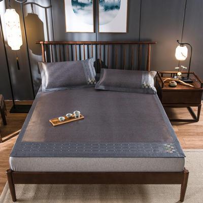 2020新款冰藤席 1.5m(5英尺)床 浪漫之旅-蓝咖