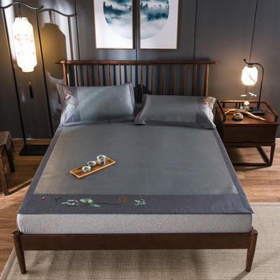 2020新款冰藤席 1.5m(5英尺)床 夏莲-灰绿