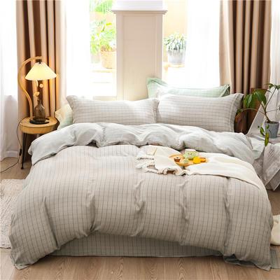 a类双层纱少女心四件套全棉纯棉ins公主风床上用品 0.9m床单款三件套 双驼格