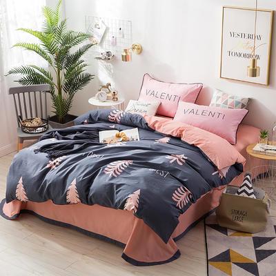 北欧ABC花边三版13372四件套 1.5m(5英尺)床 冷叶