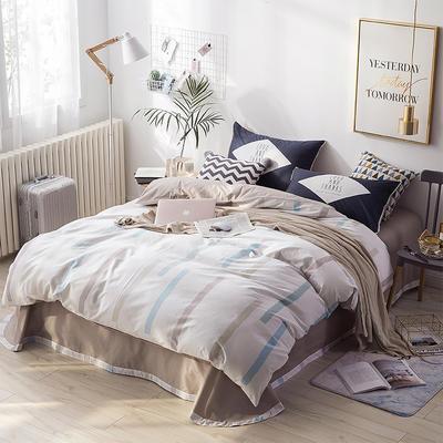 北欧ABC花边三版13372四件套 1.5m(5英尺)床 竖白梦