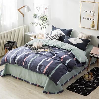 北欧ABC花边三版13372四件套 1.5m(5英尺)床 竖梦紫