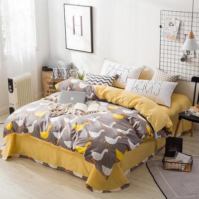 北欧ABC花边三版13372四件套 1.8m(6英尺)床 小黄鸭