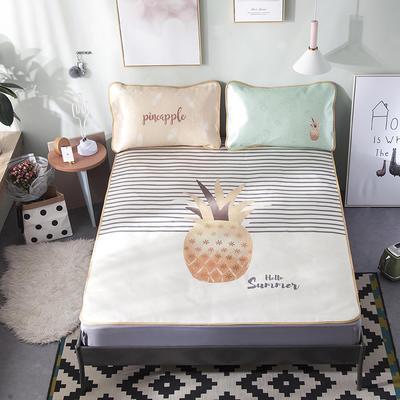 2018新款拂微家居卡通大版花数码印花冰丝席 1.5m(5英尺)床 阳光菠萝