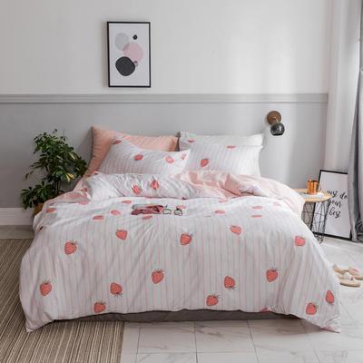 2018新款ins小清新水果系列蜜桃樱桃西瓜四件套 1.2m(4英尺)床 草莓