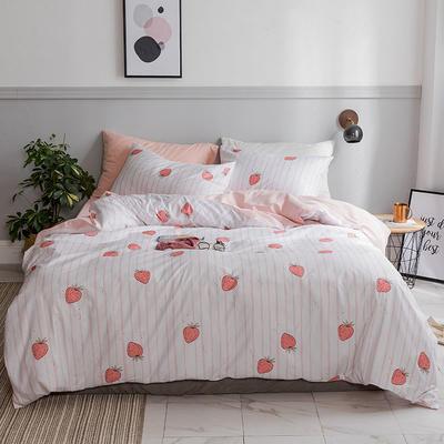 2018新款13372动物系列四件套 1.2m(4英尺)床 日式草莓