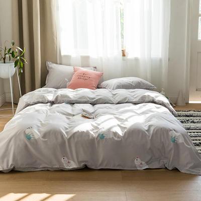 2019新品猫咪系列全棉四件套 1.2m床单款三件套 雪糕