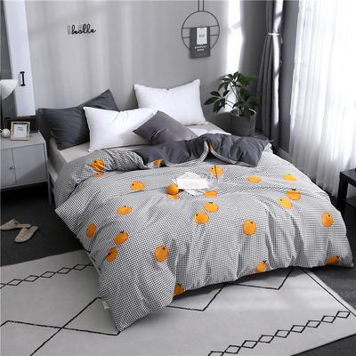 2019全棉单品被套 150x200cm 格子橙