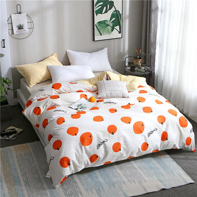 2019全棉单品被套 150x200cm 橘子