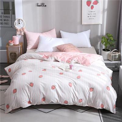 2019全棉单品被套 150x200cm 日式草莓