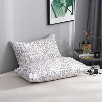 2020新品全棉单品枕套 48cmX74cm/对 粉豹
