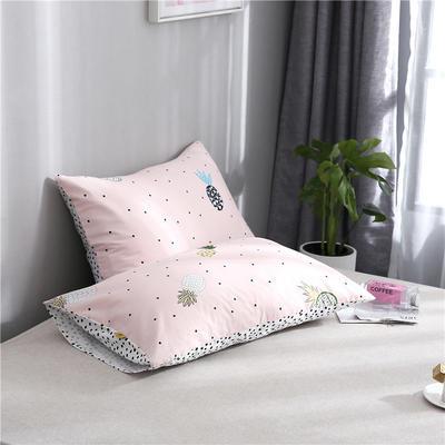 2020新品全棉单品枕套 48cmX74cm/对 粉菠萝