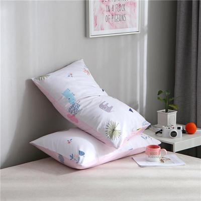 2019新品全棉单品枕套 48cmX74cm/对 小世界