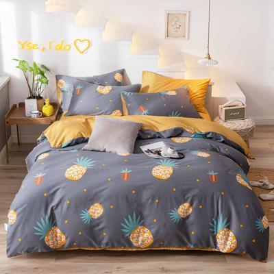 2019新款13372小清新网红全棉四件套 1.2m床单款三件套 菠萝物语