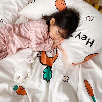 拂微2020新款全棉日式小清新卡通爱情物语系列四件套 1.5m床单款四件套 嗨萝卜