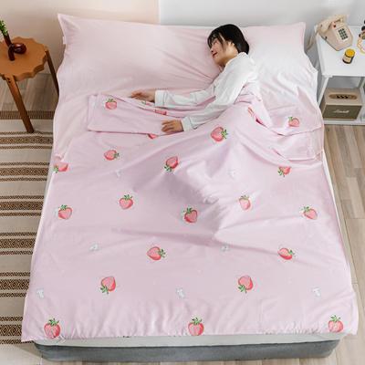 2020新款全棉简约小清新旅行睡袋 草莓猫80*230cm