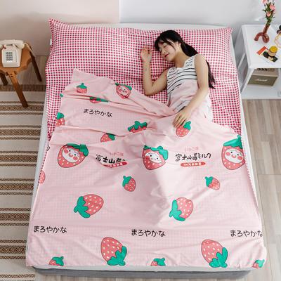 2020新款全棉简约小清新旅行睡袋 富山草莓80*230cm