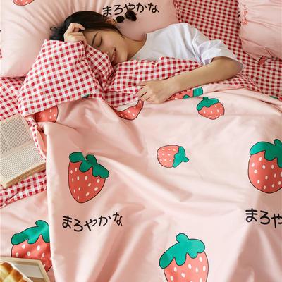 2020新款全棉亲卡夏被 150x200cm单夏被 富山草莓