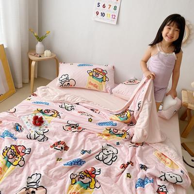 2020新款A类针织棉夏被四件套风格2 150*200cm单夏被 粉色小炸