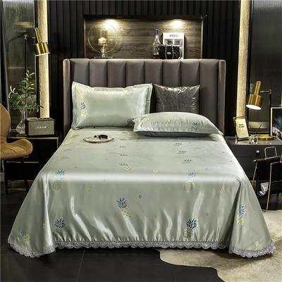 2020新款欧式冰丝床单款花边凉席 250*250cm 菠萝派