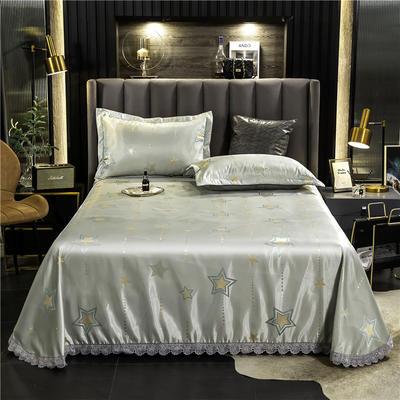 2020新款欧式冰丝床单款花边凉席 250*250cm 星愿