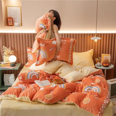 2020新款韩国臻暖绒四件套 1.8m床单款四件套 美梦成真