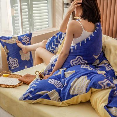 2020新款韩国臻暖绒四件套 1.8m床单款四件套 晚安