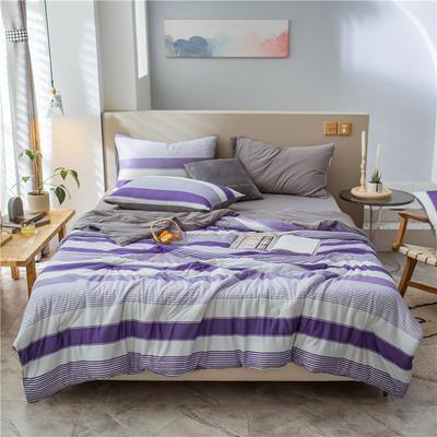 2021新款马卡龙针织夏被 180*220cm 多彩紫