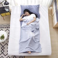 澳都 旅行纯棉隔脏睡袋床单便携成人旅游宾馆酒店隔脏卫生睡袋双人室内120*230cm 独角兽