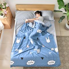 萌小叔 旅行纯棉隔脏睡袋床单便携成人旅游宾馆酒店卫生双人睡袋 流年印记80x230