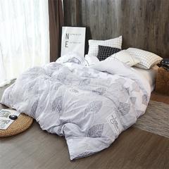 2018新款水洗棉磨毛加厚款冬被 200X230cm(10斤) 北欧叶语